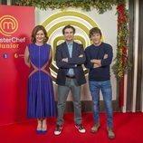 Samantha Vallejo-Nágera, Pepe Rodríguez y Jordi Cruz, jurado de 'MasterChef Junior 7'