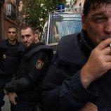 Hovik Keuchkerian, Raúl Árevalo y  Raúl Prieto en 'Antidisturbios'