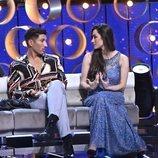 Gianmarco y Adara conversan durante el Debate Final de 'GH VIP 7'