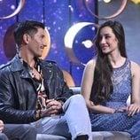 Adara y Gianmarco se sonríen durante el último 'GH VIP: El debate'