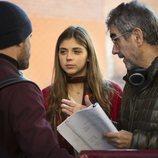 Daniel Grao y Carmen Arrufat, actores de 'HIT', junto al creador Joaquín Oristrell
