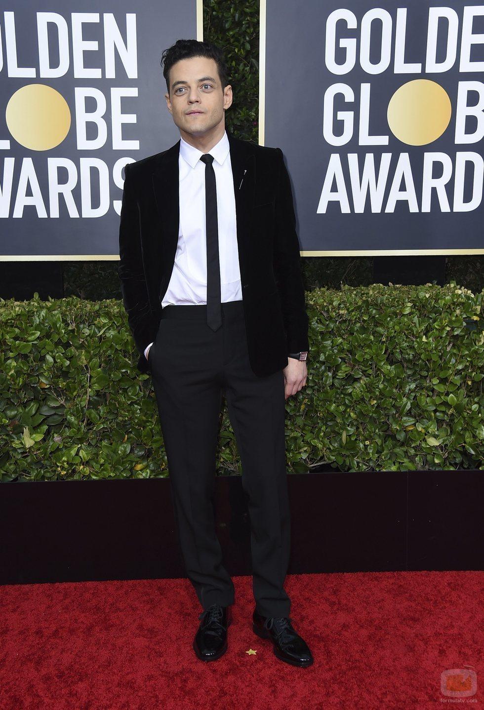 Rami Malek en la alfombra roja de los Globos de Oro 2020