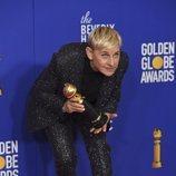 Ellen DeGeneres, ganadora del premio Carol Burnett en los Globos de Oro 2020
