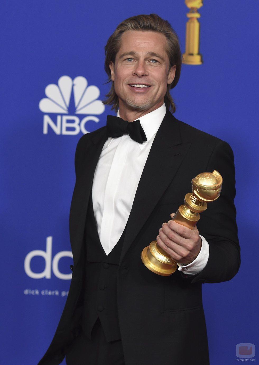 Brad Pitt, ganador a Mejor Actor de Reparto en los Globos de Oro 2020