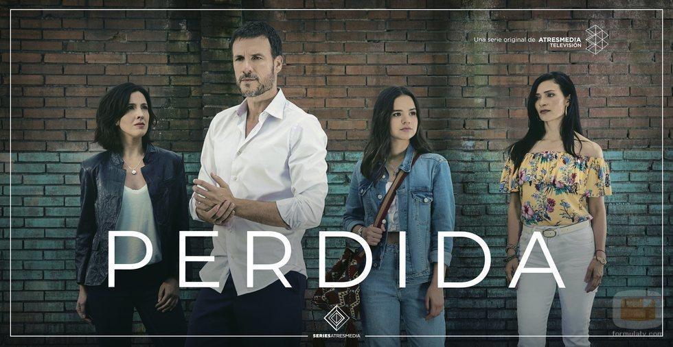 Cartel grupal con Carolina Lapausa, Daniel Grao, Verónica Velásques y Ana María Orozco de la ficción 'Perdida'