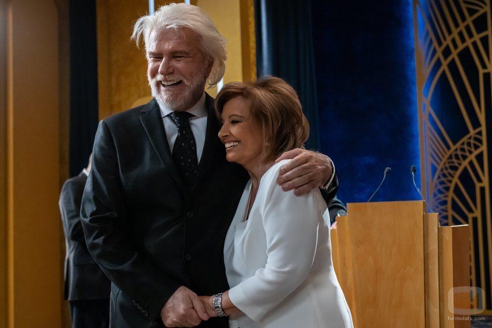 Edmundo Arrocet y María Teresa Campos, juntos en 'El cielo puede esperar'