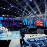 El plató de 'OT 2020' con vistas a la mesa del jurado y grada de concursantes
