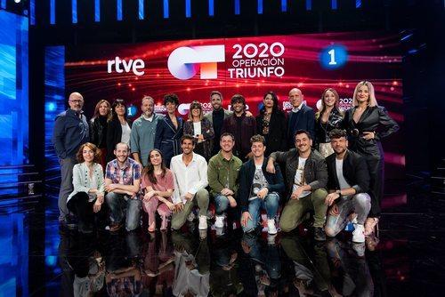 Los profesores y el jurado de 'OT 2020'