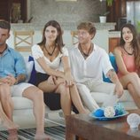 Fiama, Álex, Susana, Gonzalo, Andrea e Ismael, en el primer programa de 'La isla de las tentaciones'