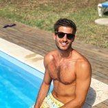 Cesc Escolà, maestro de fitness en 'OT 2020', semidesnudo en la piscina