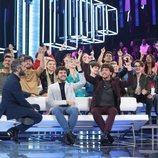 Roberto Leal y todos los concursantes en la Gala 0 de 'OT 2020'