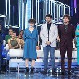 Roberto Leal, con Javy, Anne, Jesús y Samantha en la Gala 0 de 'OT 2020'