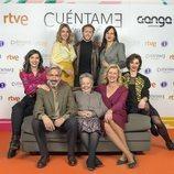 Natalia Millán junto al elenco protagonista de 'Cuéntame cómo pasó'