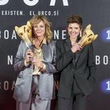 Emma Suárez e Isabel Naveira, en el preestreno de 'Néboa'