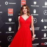 Eva Ugarte posa en la alfombra roja de los Premios Feroz 2020