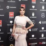 Gisela posa en la alfombra roja de los Premios  Feroz 2020