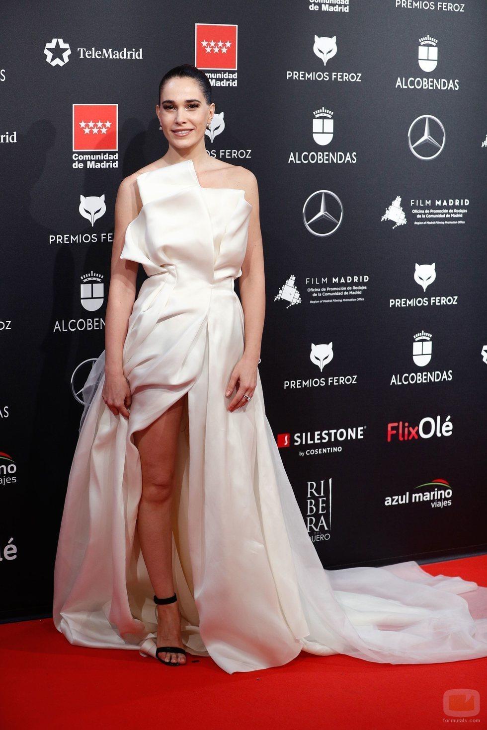 Celia Freijeiro en la alfombra roja de los Premios Feroz 2020