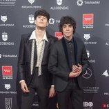 Los Javis en la alfombra roja de los Premios Feroz 2020