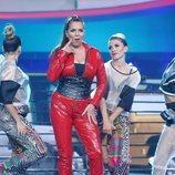 Belinda Washington como Isa P en la Gala 2 de 'Tu cara me suena 8'