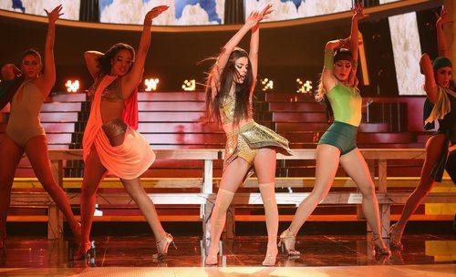 Nerea Rodriguez hace de Ariana Grande en la Gala 2 de 'Tu cara me suena 8'