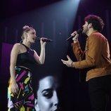"""Samantha y Javy cantan """"Te espero aquí"""" en la Gala 1 de 'OT 2020'"""
