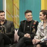 Gianmarco, Maestro Joao y Adara en la Gala 2 de 'El tiempo del descuento'