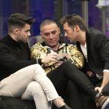 Pol Badía y Hugo Castejón hablan con Dinio en 'El tiempo del descuento'