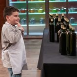 Albert en la prueba del aceite de 'MasterChef Junior 7'