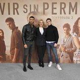 Edgar Vittorino, Pilar Castro y Patrick Criado en 'Vivir sin permiso'
