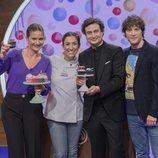 El jurado de 'MasterChef Junior 7' junto a Alma Obregón