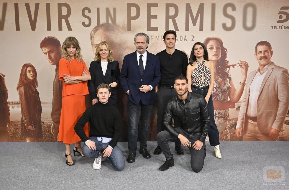 Elenco de 'Vivir sin permiso' en su temporada final
