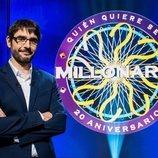 Juanra Bonet junto al logo de '¿Quién quiere ser millonario?'