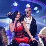 Gemeliers son Becky G y Bad Bunny en la Gala 3 de 'Tu cara me suena 8'