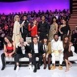 Manel Fuentes y los concursantes de 'Tu cara me suena 8' en la Gala 3