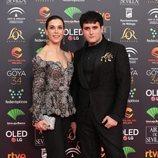 Raquel Sánchez y Palomo Spain en la alfombra roja de los Premios Goya 2020