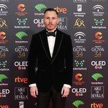 Rubén Ochandino en la alfombra roja de los Premios Goya 2020