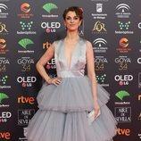 Ruth Gabriel posa en la alfombra roja de los Premios Goya 2020