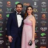 Daniel Muriel y Candela Serrat en la alfombra roja de los Premios Goya 2020