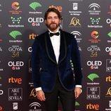 Félix Gómez posa en la alfombra roja de los Premios Goya 2020