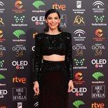 Irene Visedo, sonriente en la alfombra roja de los Premios Goya 2020