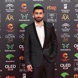 El cantante Rayden posa en la alfombra roja de los Premios Goya 2020