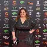 Itziar Castro posa en la alfombra roja de los Premios Goya 2020