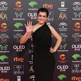 Amaia, sonriente en la alfombra roja de los Premios Goya 2020