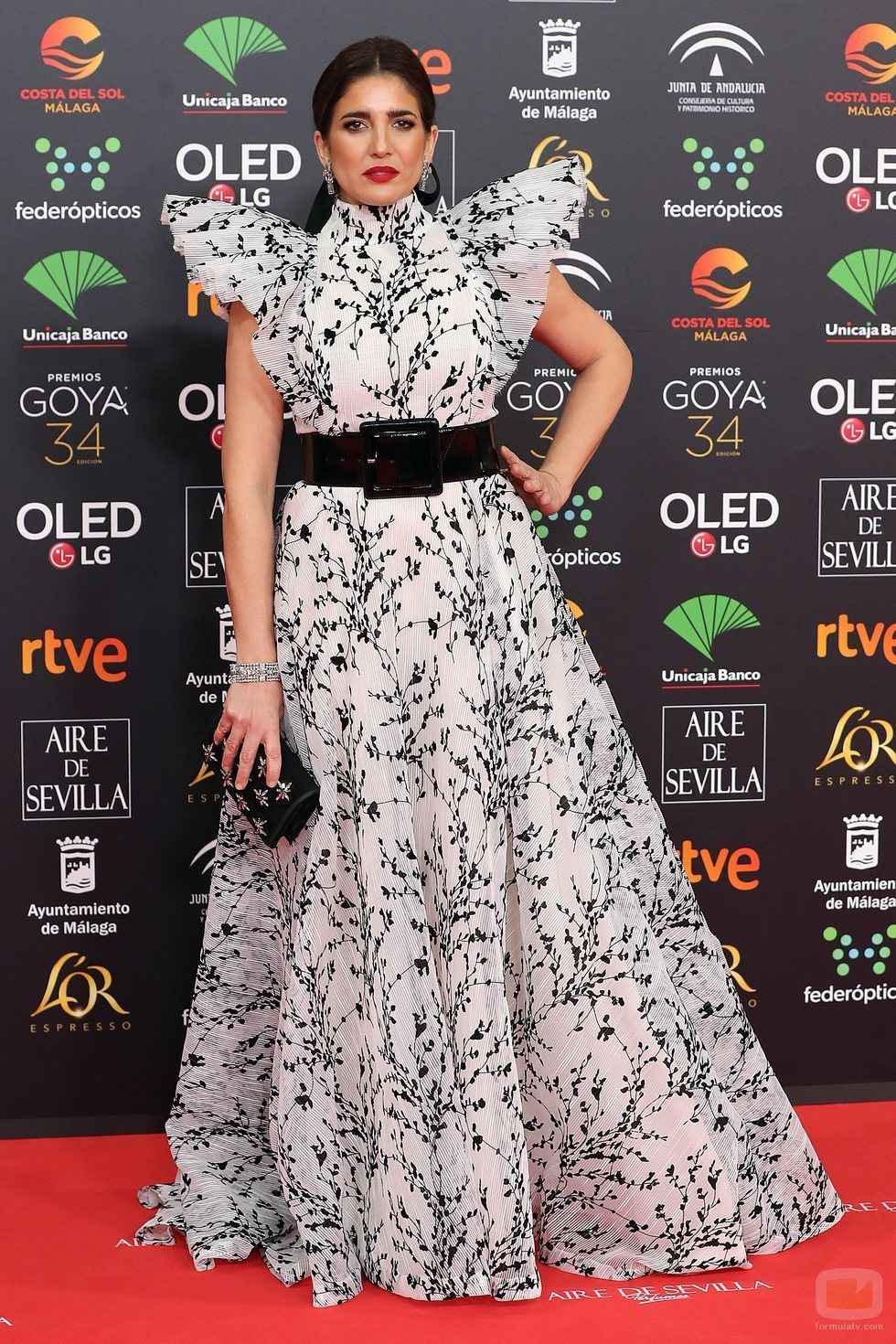 Lucía Jiménez posa en la alfombra roja de los Premios Goya 2020