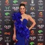 Eva Marciel posa en la alfombra roja de los Premios Goya 2020