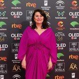 Adelfa Calvo posa en la alfombra roja de los Premios Goya 2020