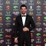 Miguel Ángel Muñoz en la alfombra roja de los Premios Goya 2020
