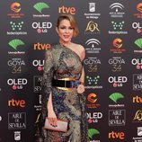 Silvia Abascal posa en la alfombra roja de los Premios Goya 2020