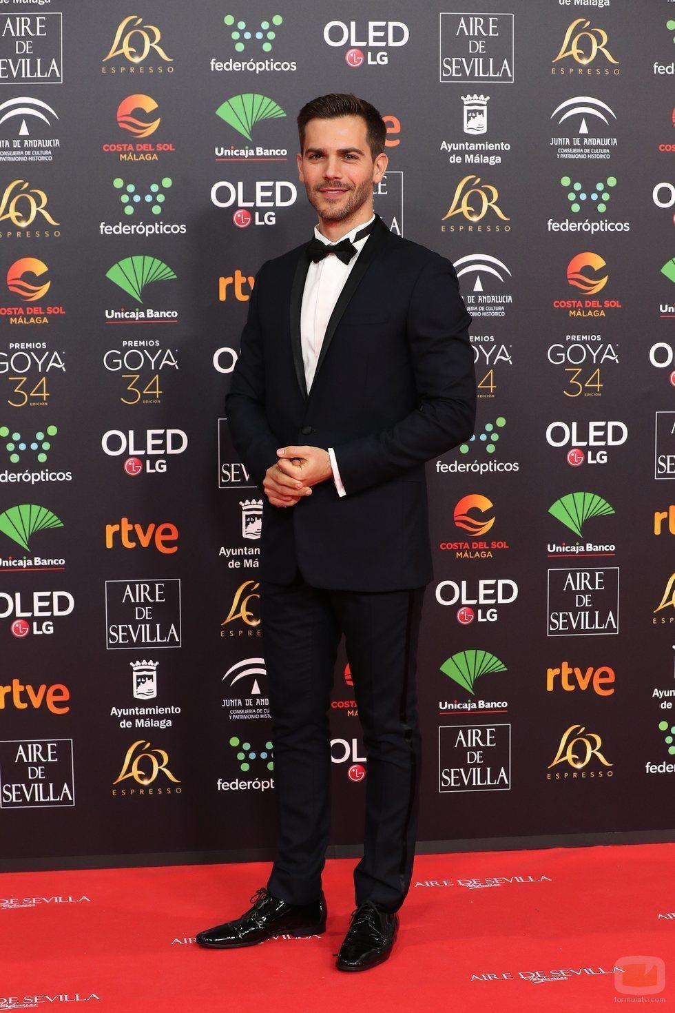 Marc Clotet en la alfombra roja de los Premios Goya 2020
