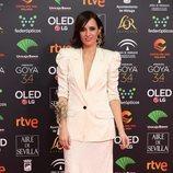 Ana Turpin posa en la alfombra roja de los Premios Goya 2020
